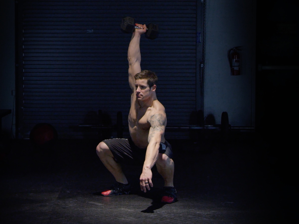 Single Dumbbell Squat Snatch