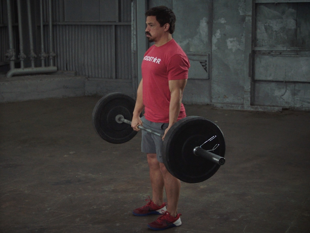Josh Bridges demonstrates a deadlift