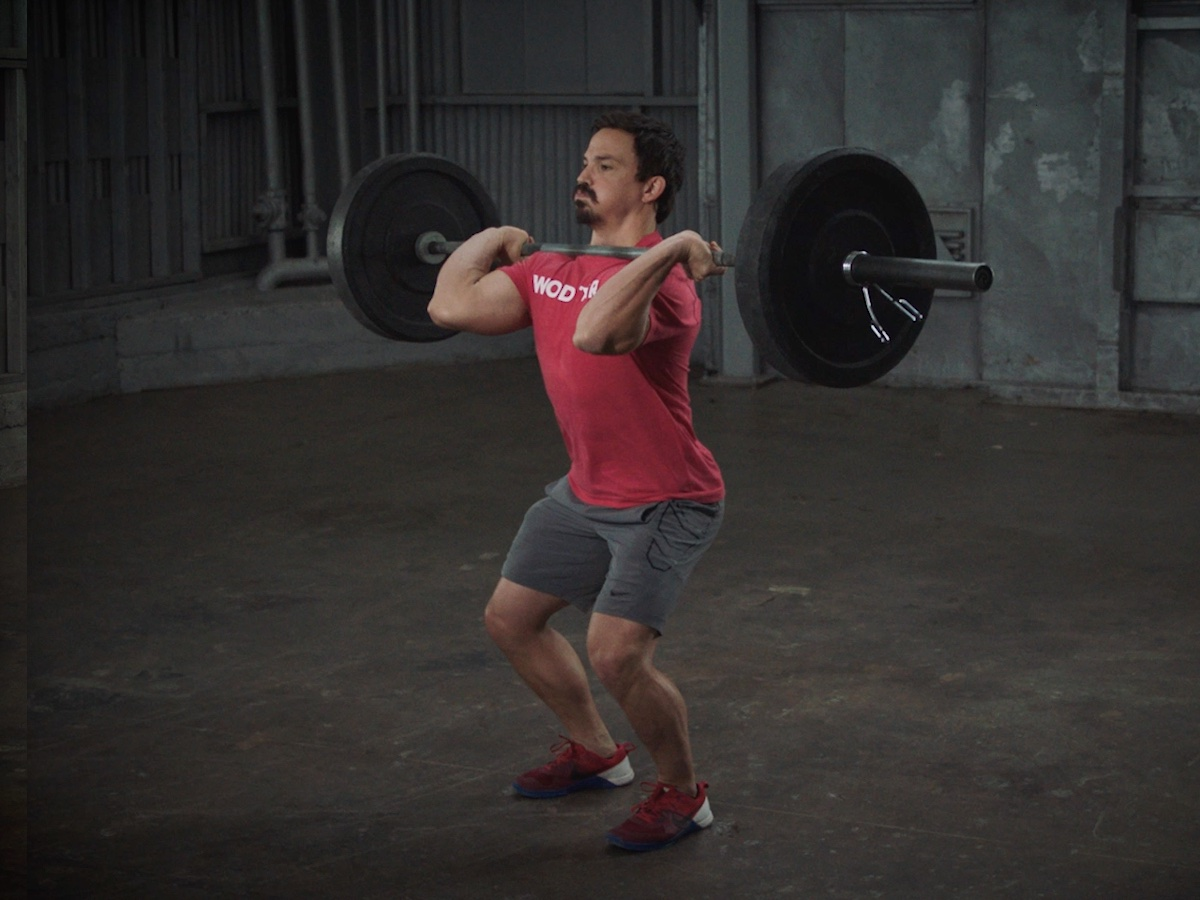 Josh Bridges Demonstrates How to Do a Hang Power Clean