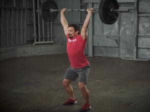 Josh Bridges demonstrates how to do a push jerk.