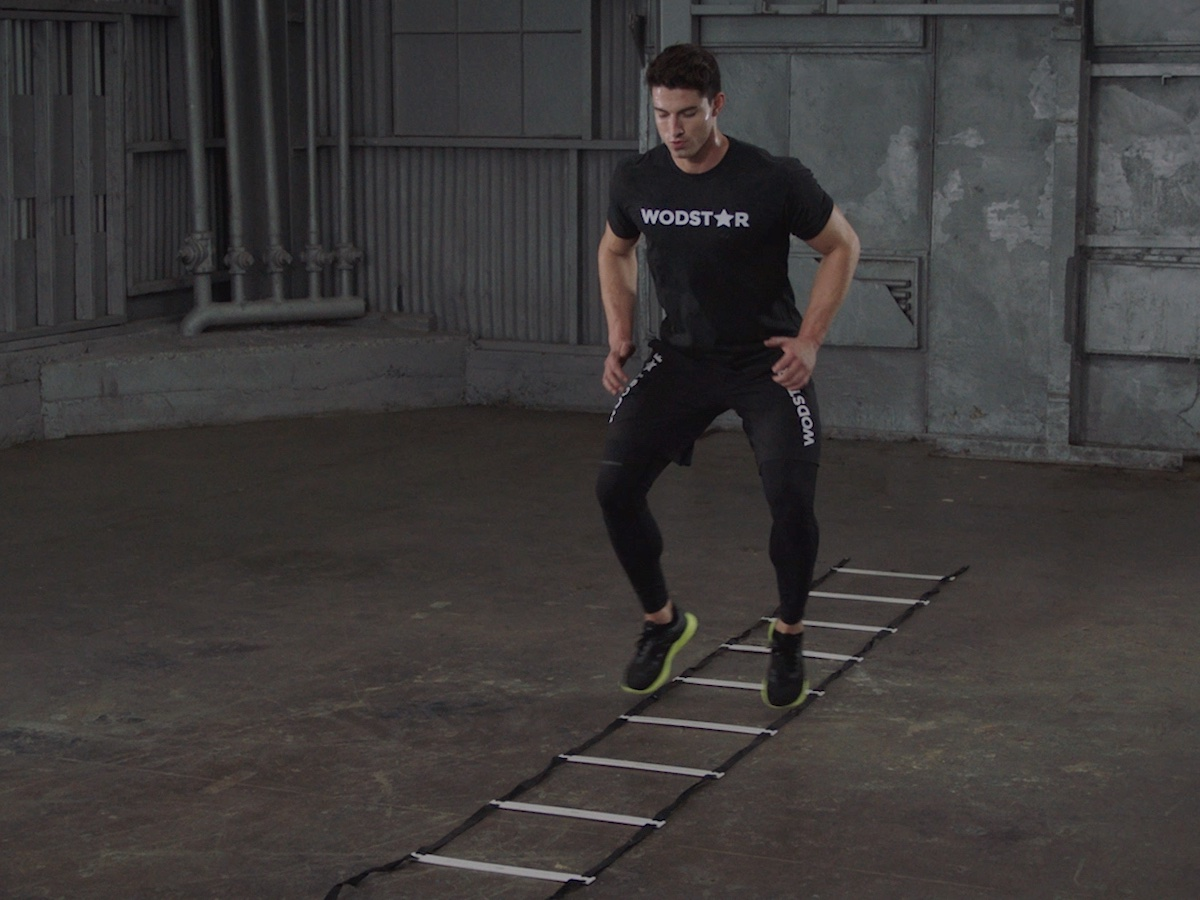 How To Do the One Foot In and One Foot Out Ladder Drill