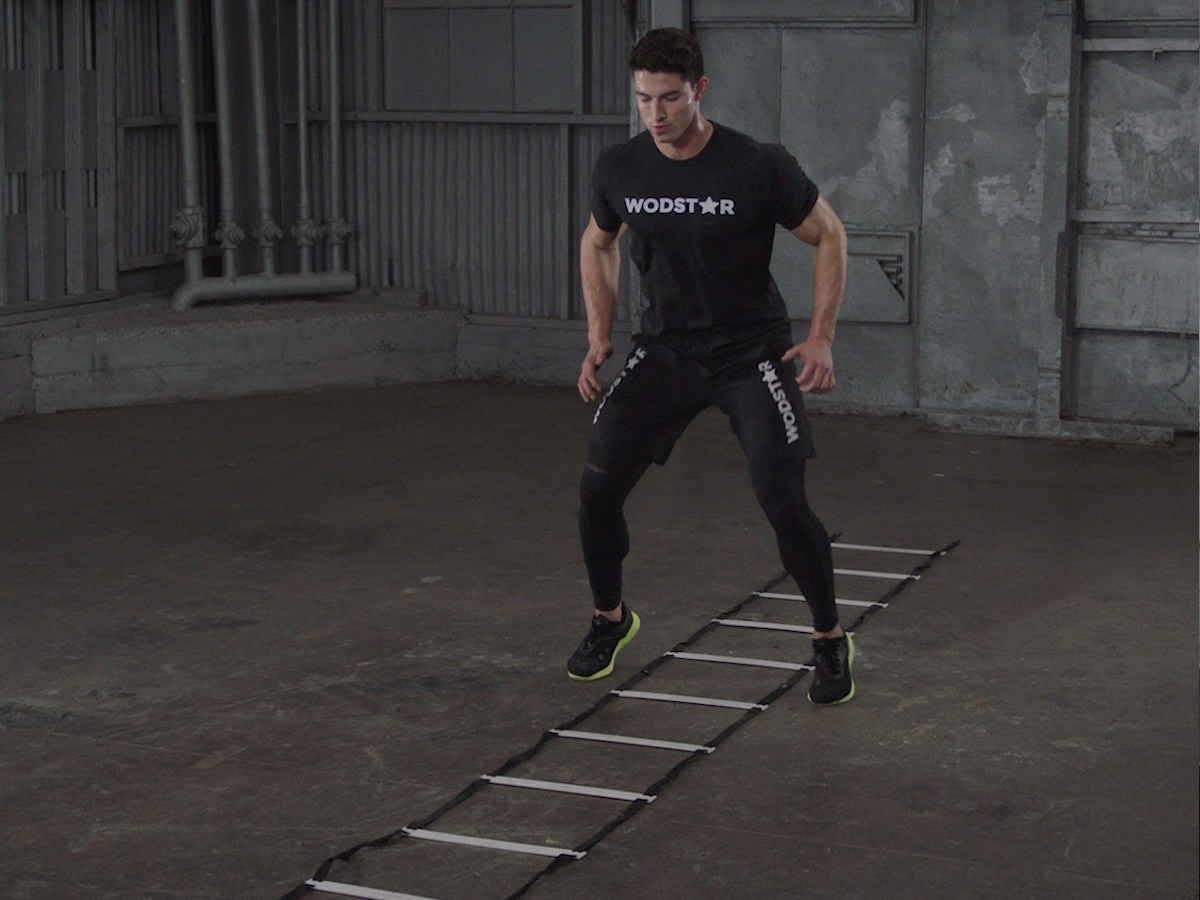 How To Do the Two Feet In and Two Feet Out Ladder Drill