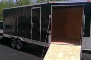 New 2015 Freedom 8.5x20 + 5' V-nose Snow Mobile/ATV Trailer