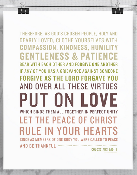 Colossians 3 Print