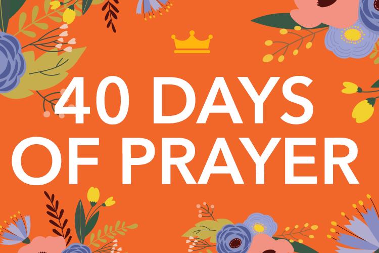 40 days of prayer header image