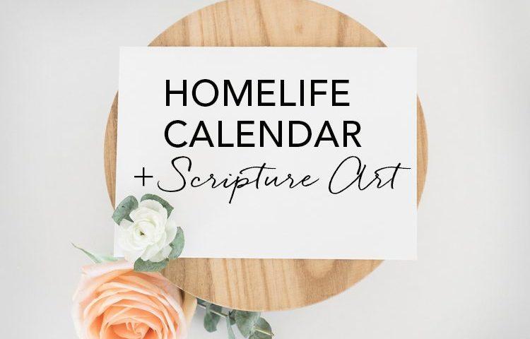 HomeLife Family Time Calendar and Scripture Art | June 2018