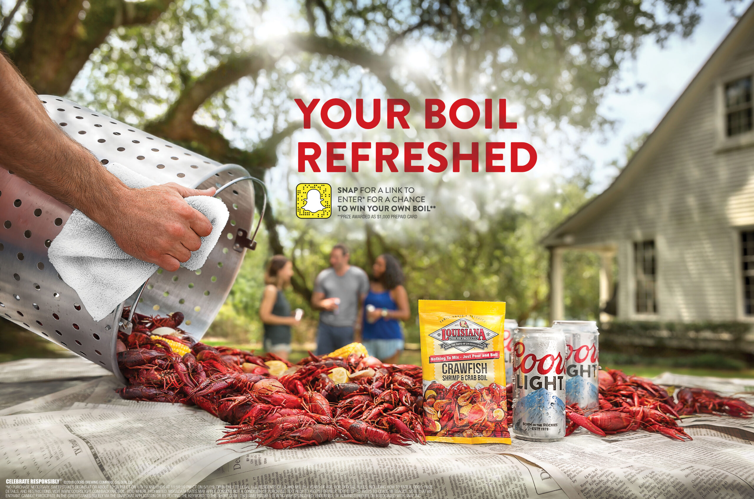 A successfully scouted shoot for Coors Light in Louisiana. Photo by Rick Olivier