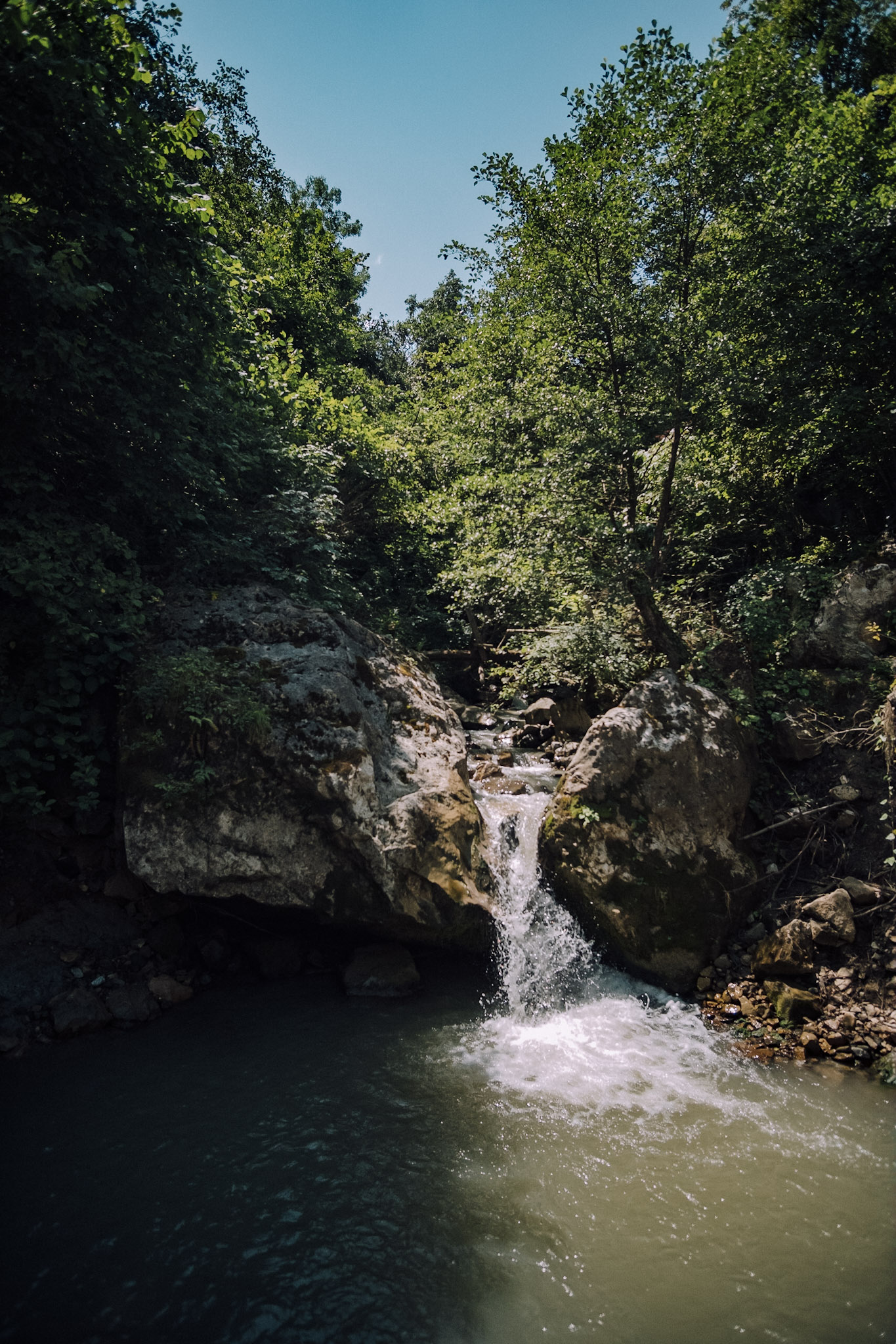 Dmitri Mais' shot of a waterfall and swimming hole on Paradise Trail