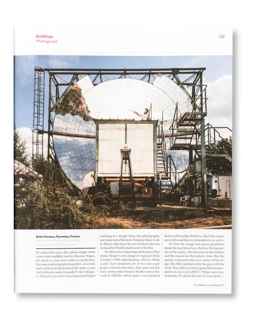Alastair Philip Wiper shoots a solar furnace for RIBA journal