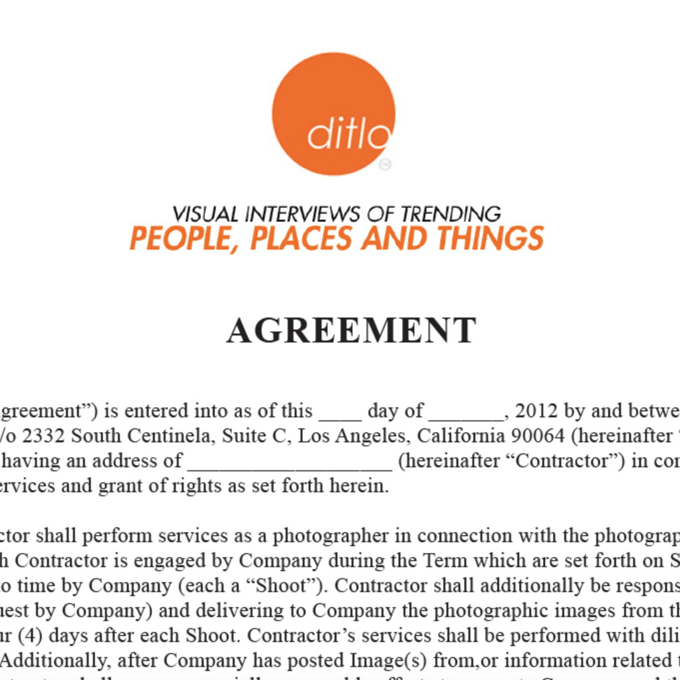 Pricing & Negotiating: DITLO Contract
