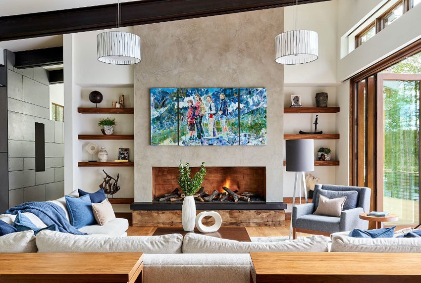David Patterson captures a luxurious, light-filled living room for Luxe Magazine