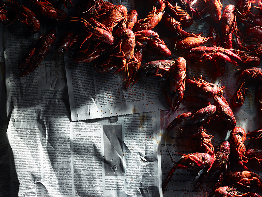 Crawfish boil. Photography by Dick Patrick.