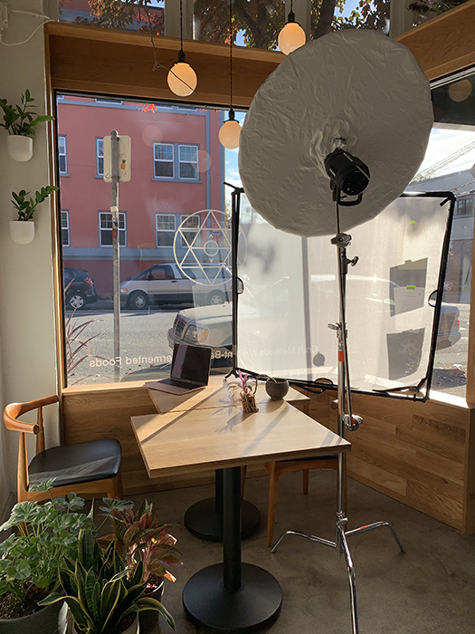 Behind-the-scenes at Dina Avila's shoot for Fermenter.