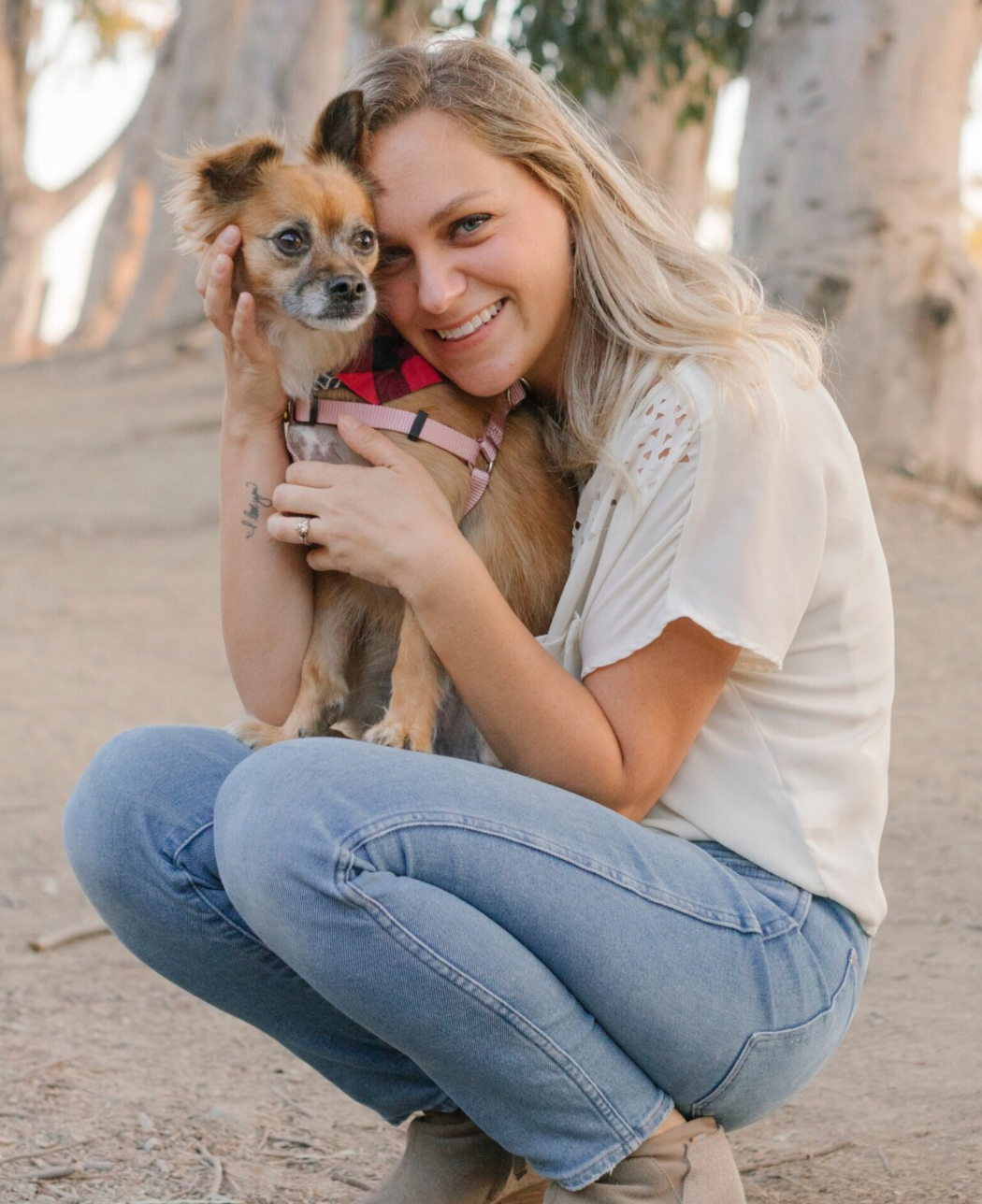 Michelle McSwain with her cute dog