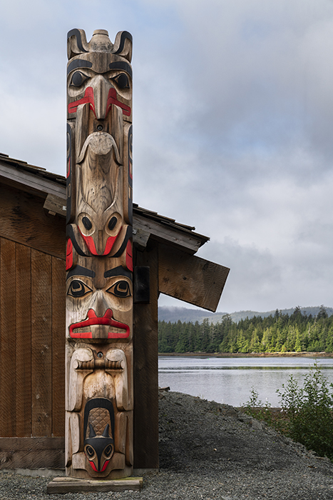 Totem pole photographed by Fernando Decillis for Smithsonian Magazine.