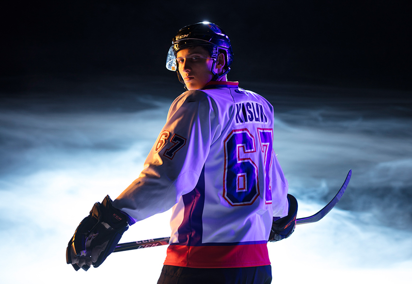 Phantom ice hockey player by Scott Galvin