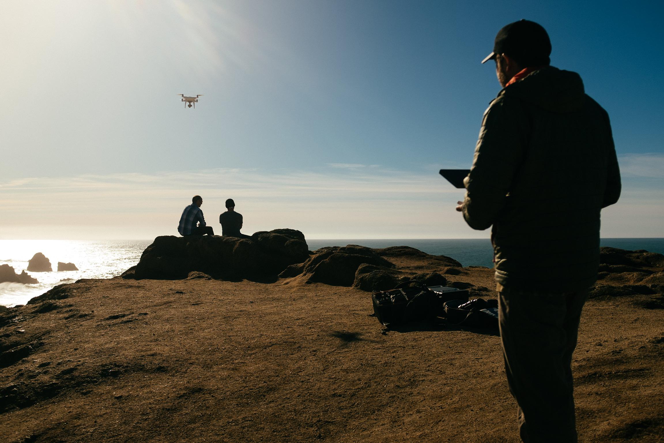 Rachid pilots his beloved drone