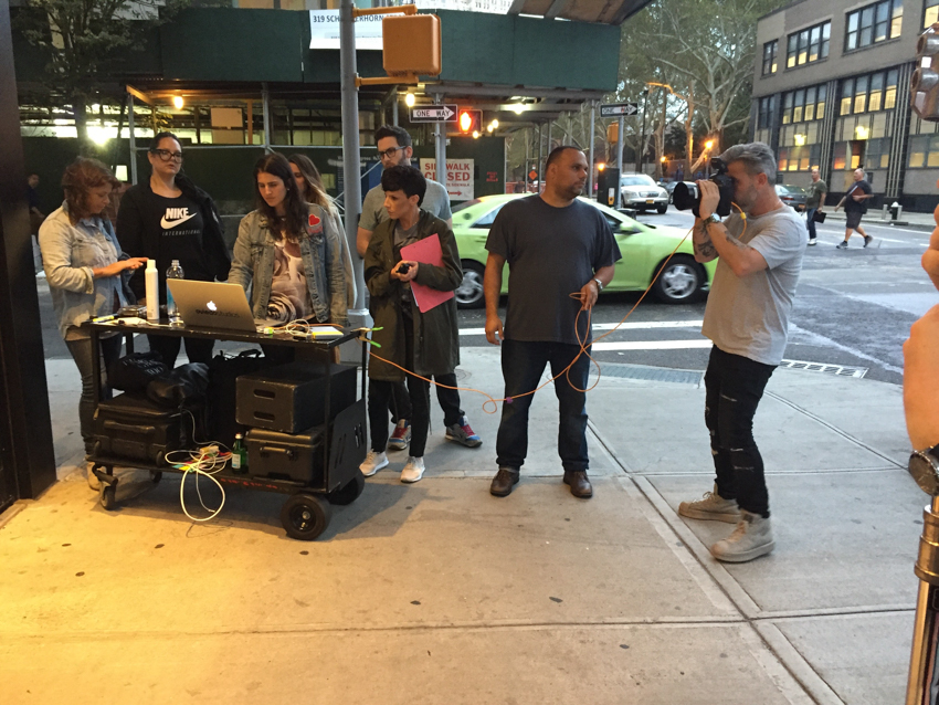 EVEN hotels shoot production crew on the streets of New York City