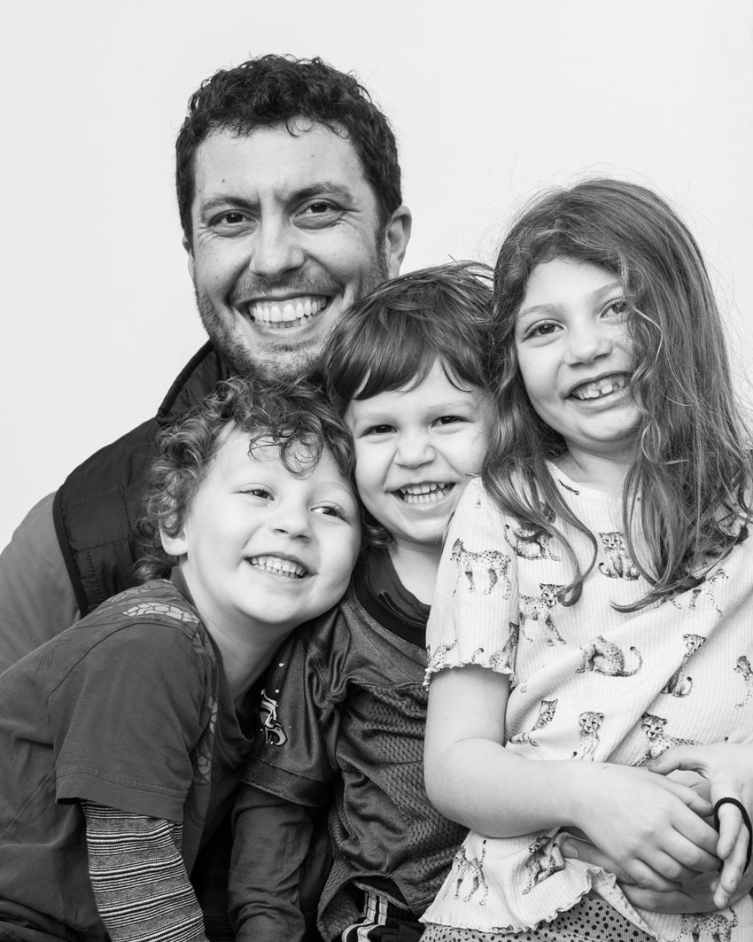 Ian Tuttle Social Distance Portraits Kaveh and family