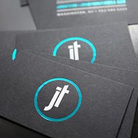 Business Cards: Foil-stamped Cards Jonathan Timmes