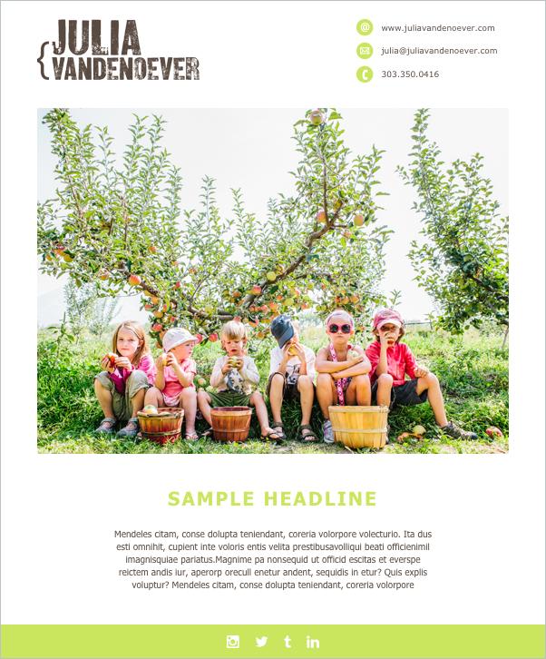 Emailer: A Fun Template Design for Julia Vandenoever