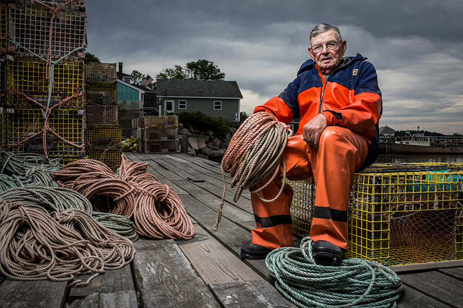A photo of Andy Gove in his dock photographed by Jason Page Smith for The Oldest State.