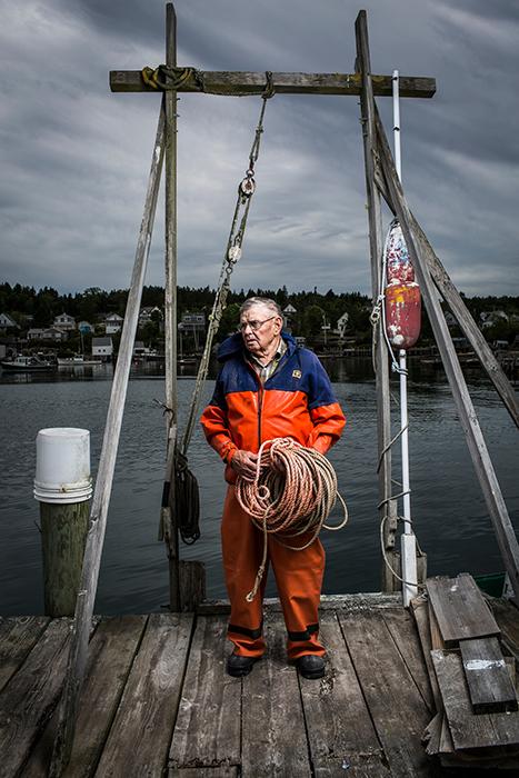 Legendary Lobsterman at work.