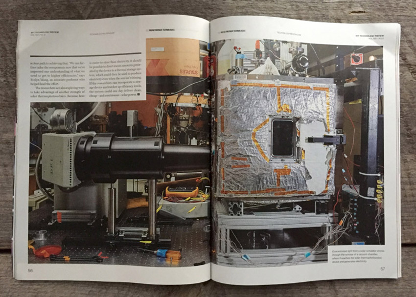 Ken Richardson photographs industrial equipment and people for MIT Technology Review