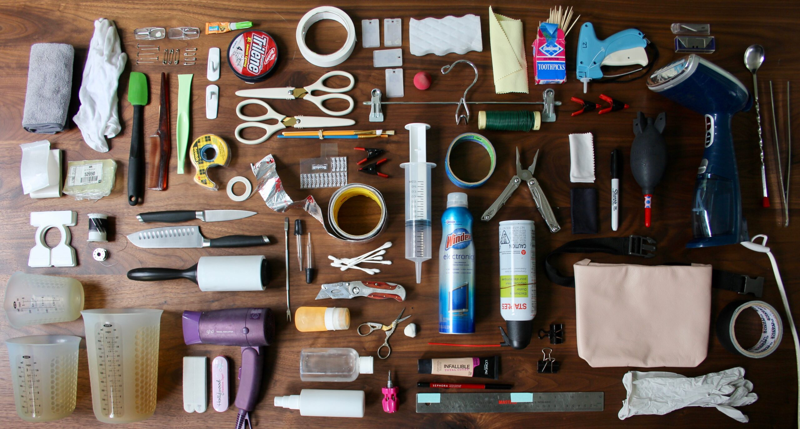Tools that prop stylist Lizzy Williams uses for work.