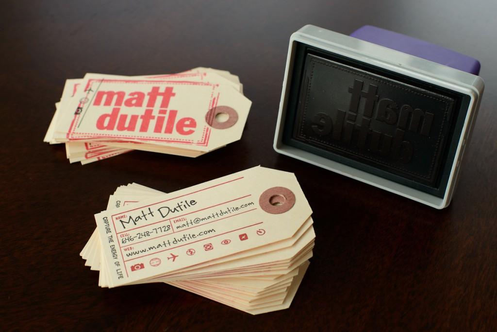 Matt Dutile's business cards.