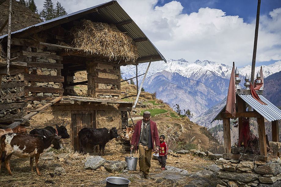 Mark Katzman's Real and Raw Travels through India for FES - Image of a village in the Himalayas