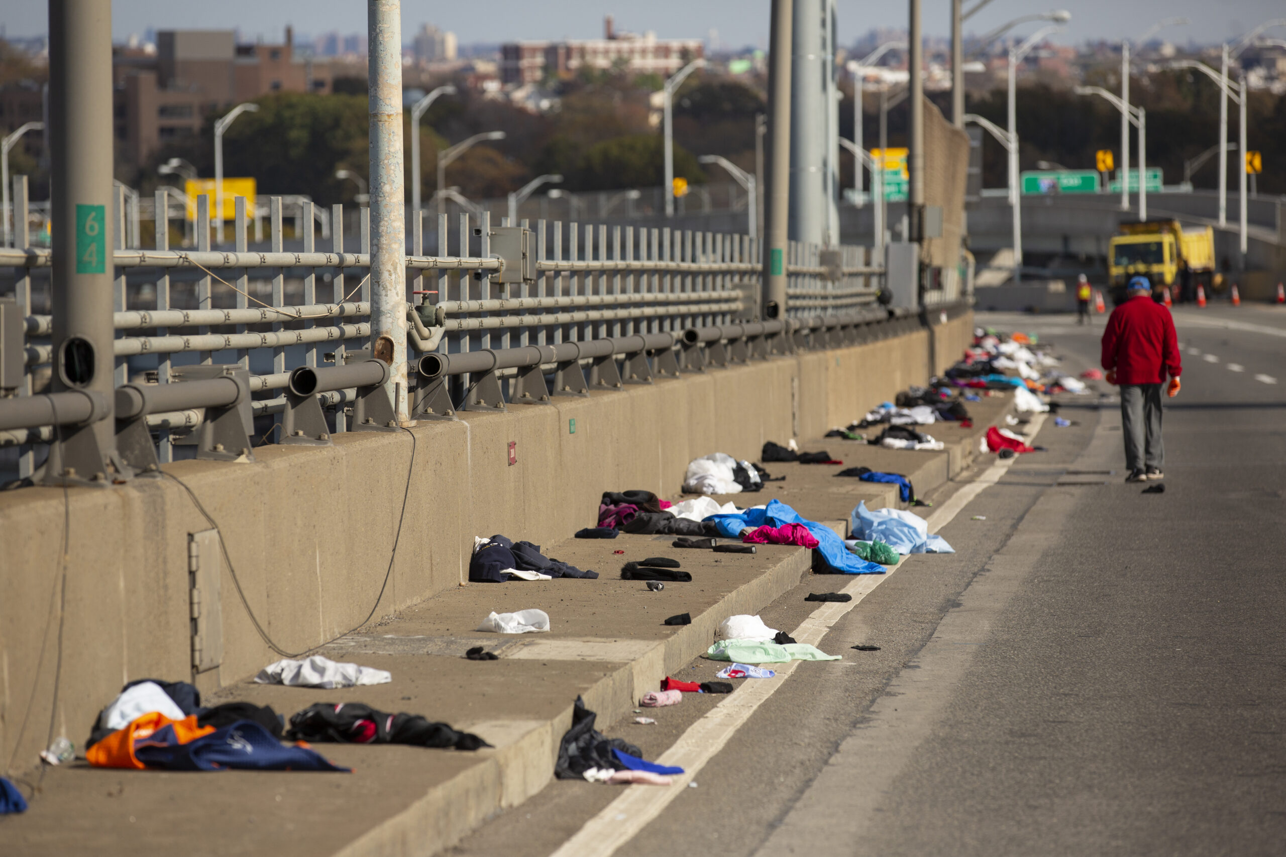 Another of Ben Norman's shots from the Verrazano Bridge showing abandoned running clothes