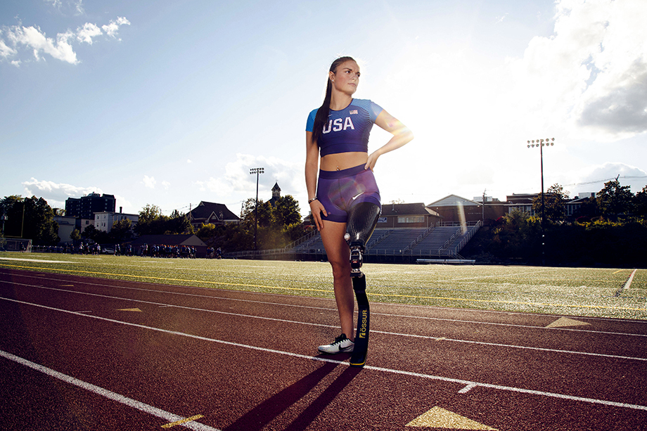 Noelle Lambert at a track field in Manchester, New Hampshire. Photography by Ronnie Orlando