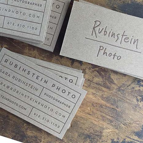 Business Cards: Chipboards for Sara Rubinstein