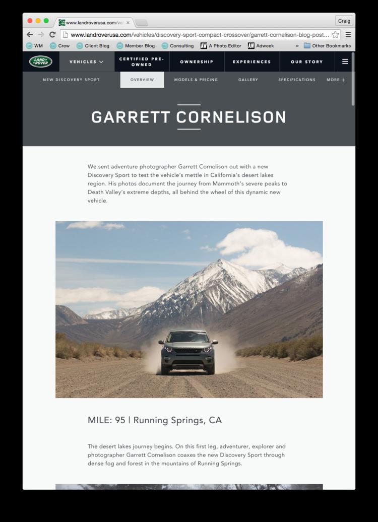 Garret Cornelison Land Rover