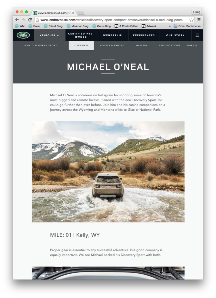 Michael O'Neal Land Rover