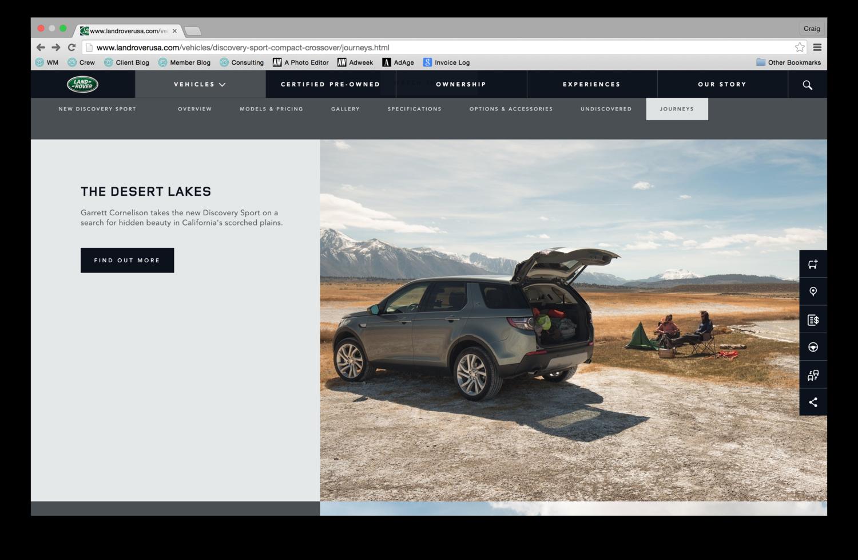 The Desert Lake Land Rover