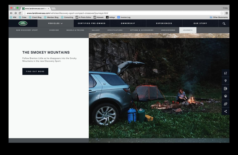 The Smokey Mountains Land Rover