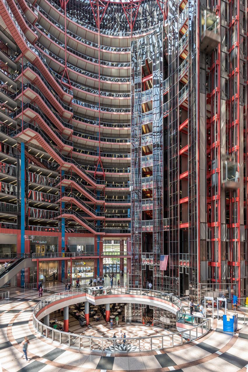 An interior shot from Serhii Chrucky of the Thompson Center for  Preservation Chicago