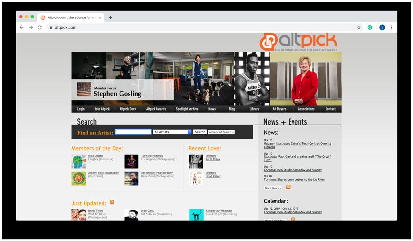 altpick website screenshot