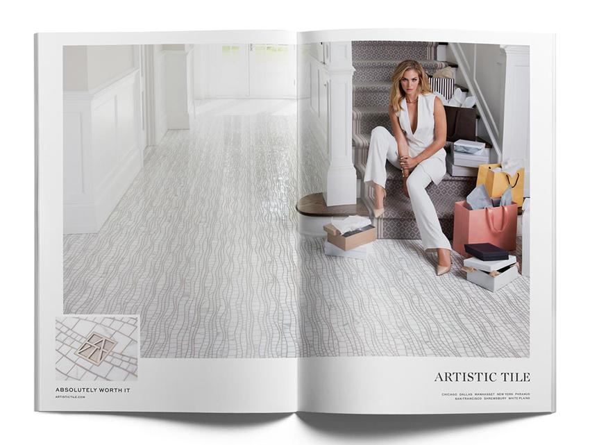 artistic tile shoot, artistic tile model, samantha wolov photo, luxury photo production