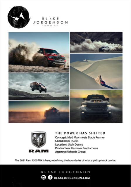 Blake Jorgenson's RAM truck campaign to clients