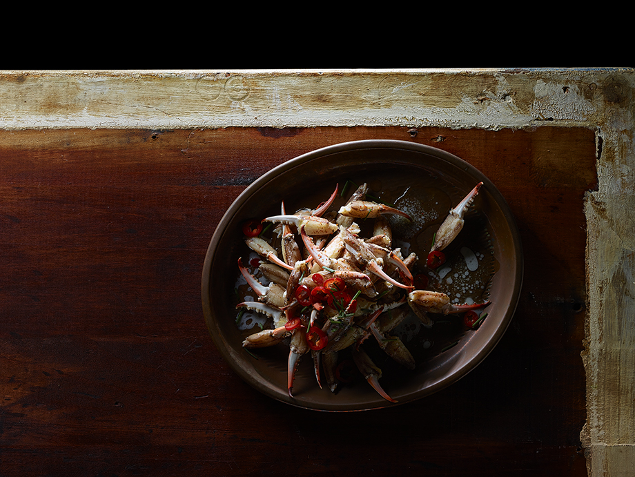 A crab dish photographed by Dick Patrick.