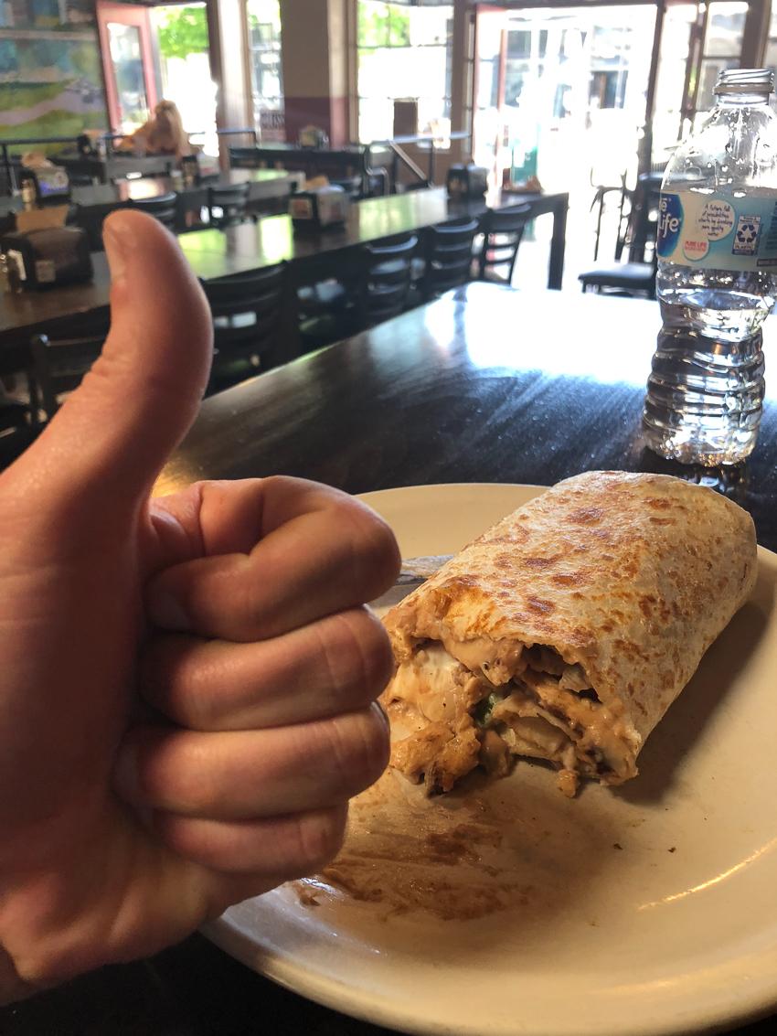 A soy curl burrito from Los Gorditos, Portland, Oregon