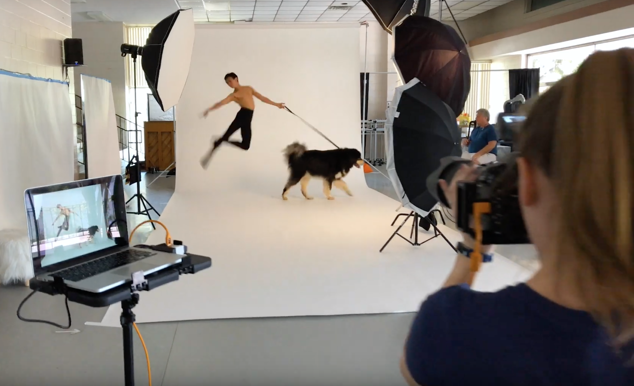 dancers and dogs behind the scenes rented equipment