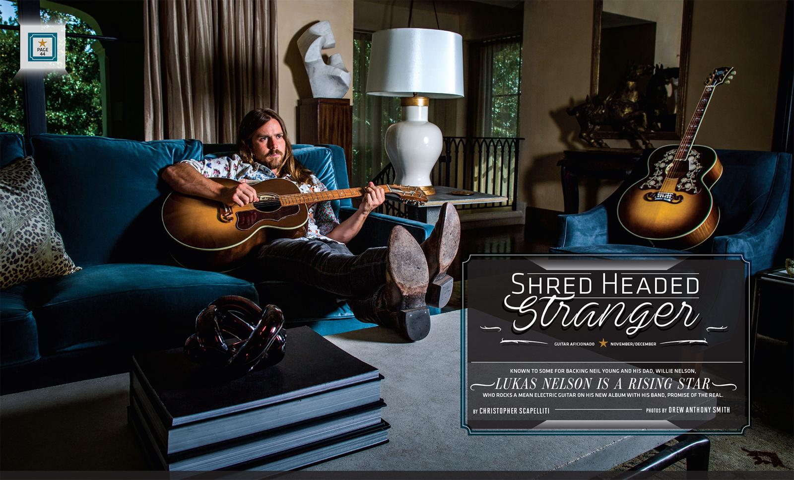 Drew Anthony Smith guitar aficionado lukas nelson