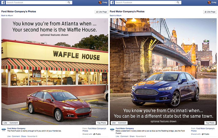 Ford Fusion Facebook campaign