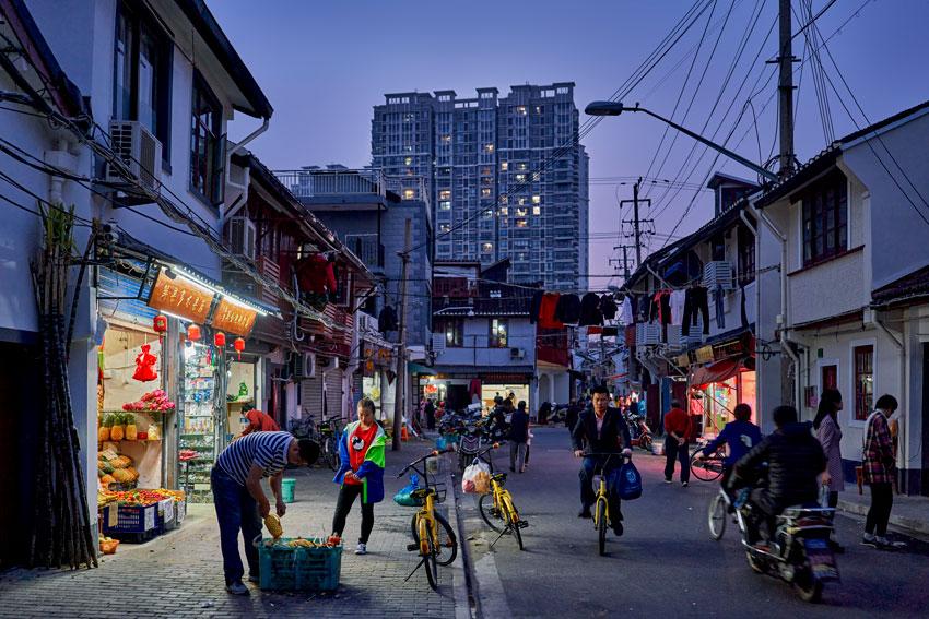 Jason Keen China trip a shot of a busy street at night