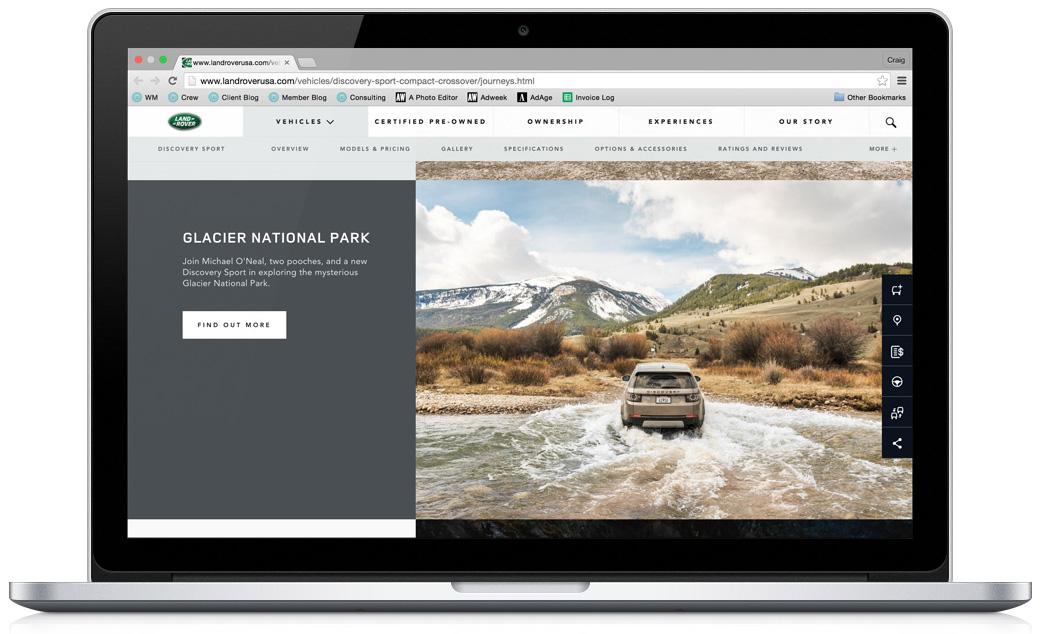 Land Rover Glacier National Park Screenshot