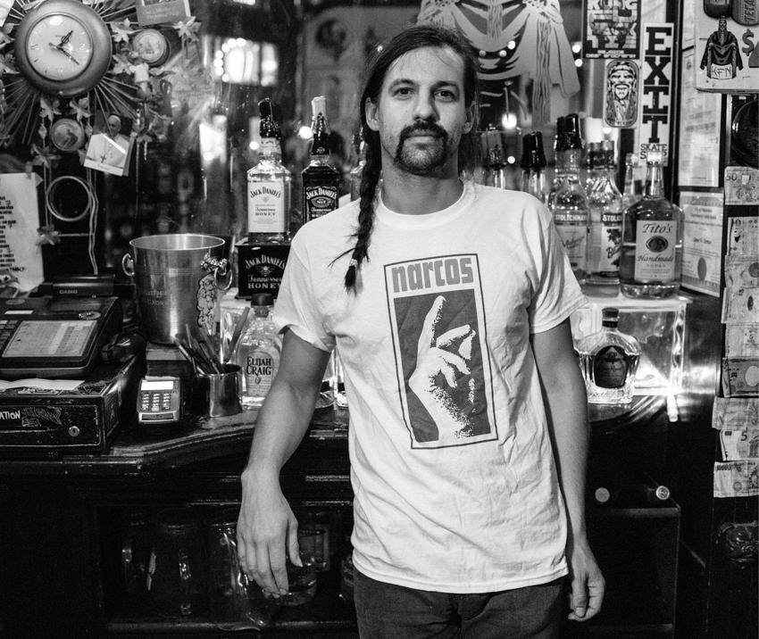 Guy at a bar shot by Gene Smirnov